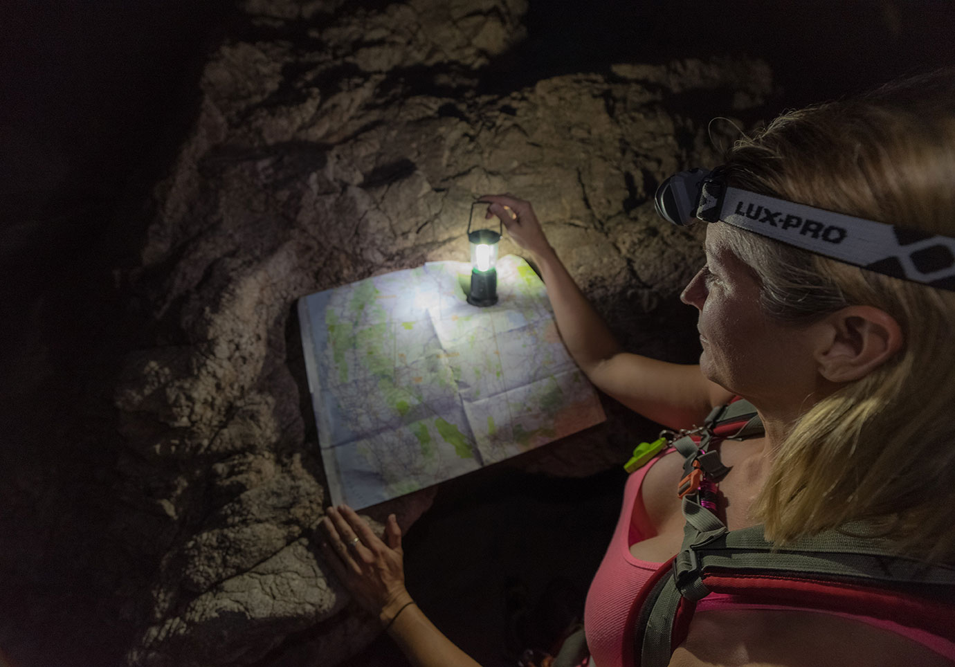 Lux Pro Flashlights Adventure in the Canyons. Daniel Britton Adventure Photography
