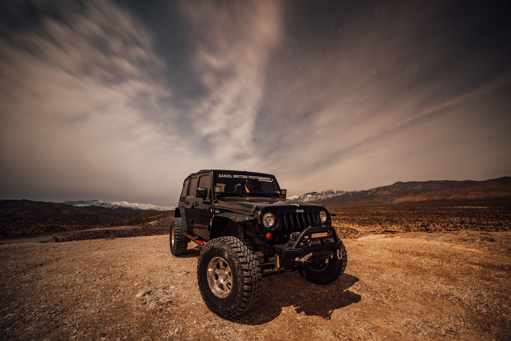 Jeep Wrangler, Night Photography, Automobile, Adventure Lifestyle Photographer Daniel Britton