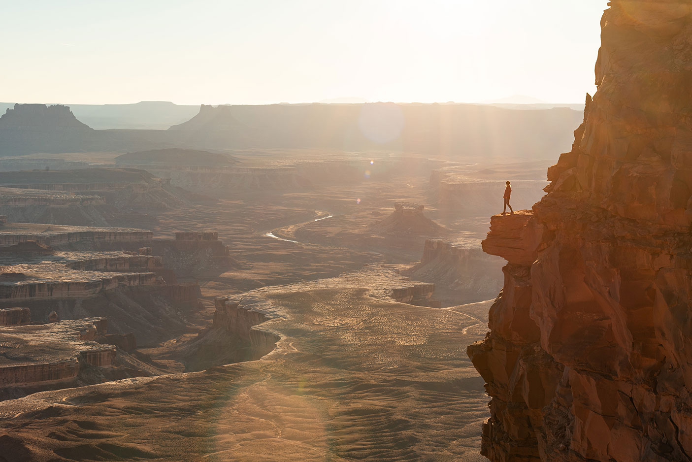 Hiking Canyonlands National Park Sunset, Lifestyle, Adventure Photographer Daniel Britton Photography.