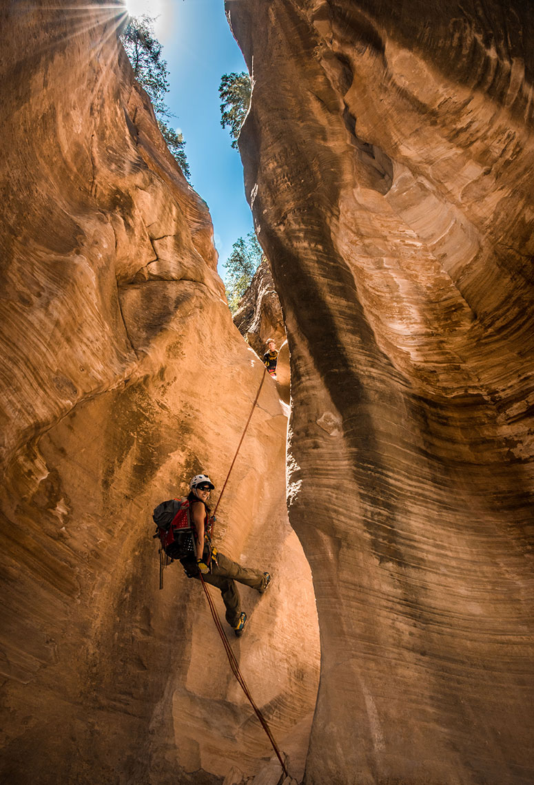 Canyoneering, Zion National Park, Slot Canyon, Lifestyle, Adventure Photographer Daniel Britton