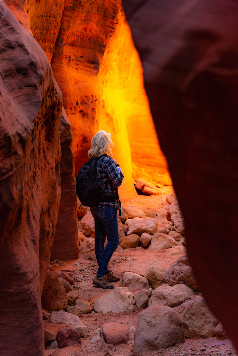 Hiking, Wire Pass Slot Canyon, Kanab, Utah, Adventure Lifestyle Photographer Daniel Britton