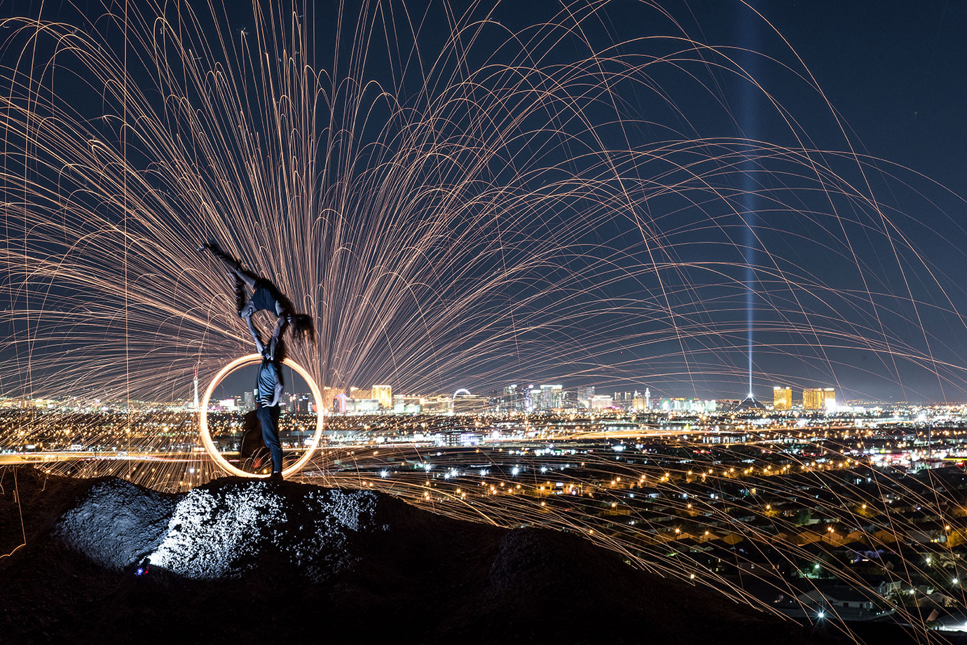 Steel Wool Photography, Acro Yoga, Las Vegas, Nevada, Lifestyle, Adventure Photographer, Daniel Britton