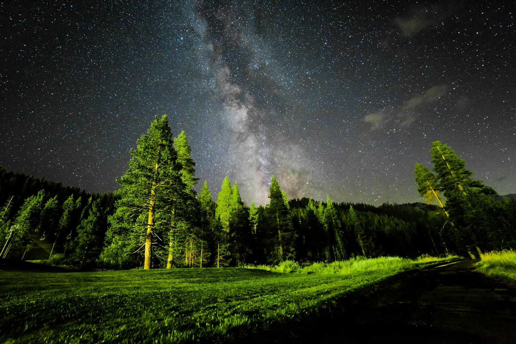 Landscape Photography, Squaw Valley, California, Nightscape, Milky Way Galaxy